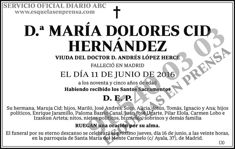 María Dolores Cid Hernández